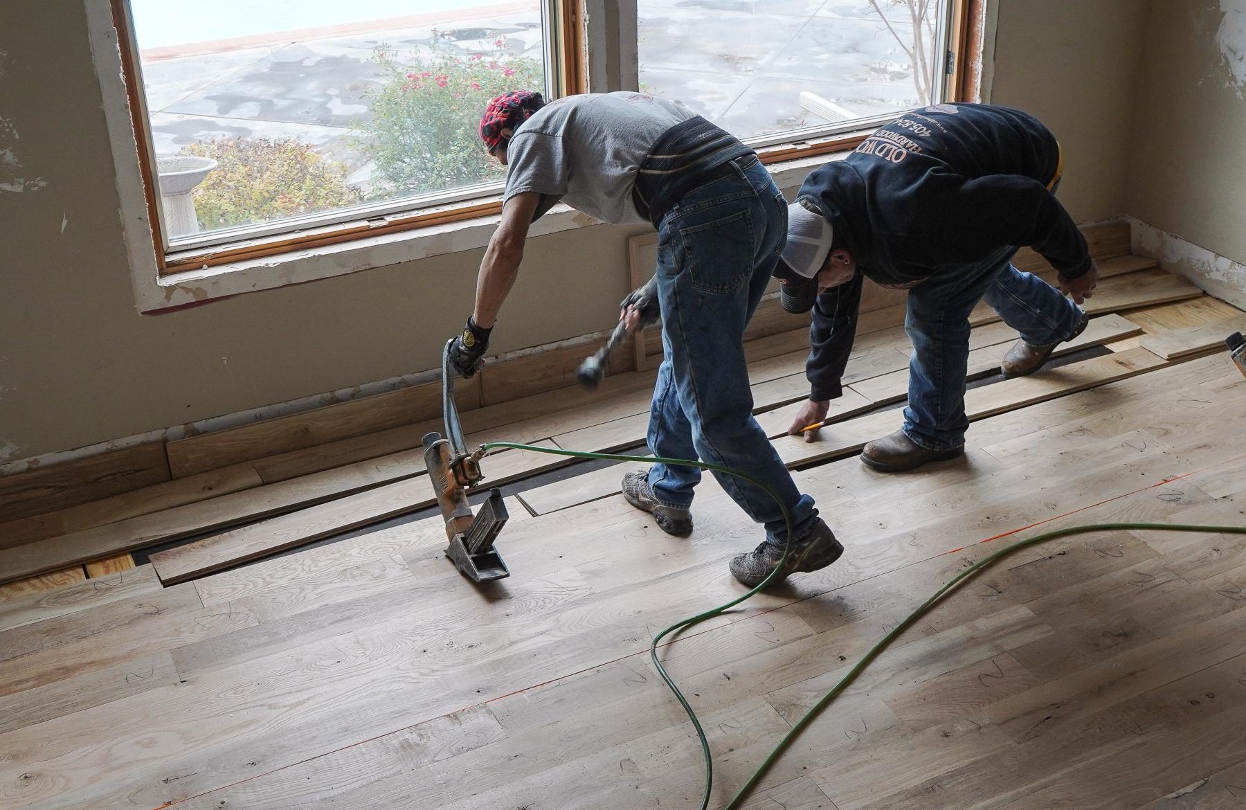 Nailing Hardwood Planks