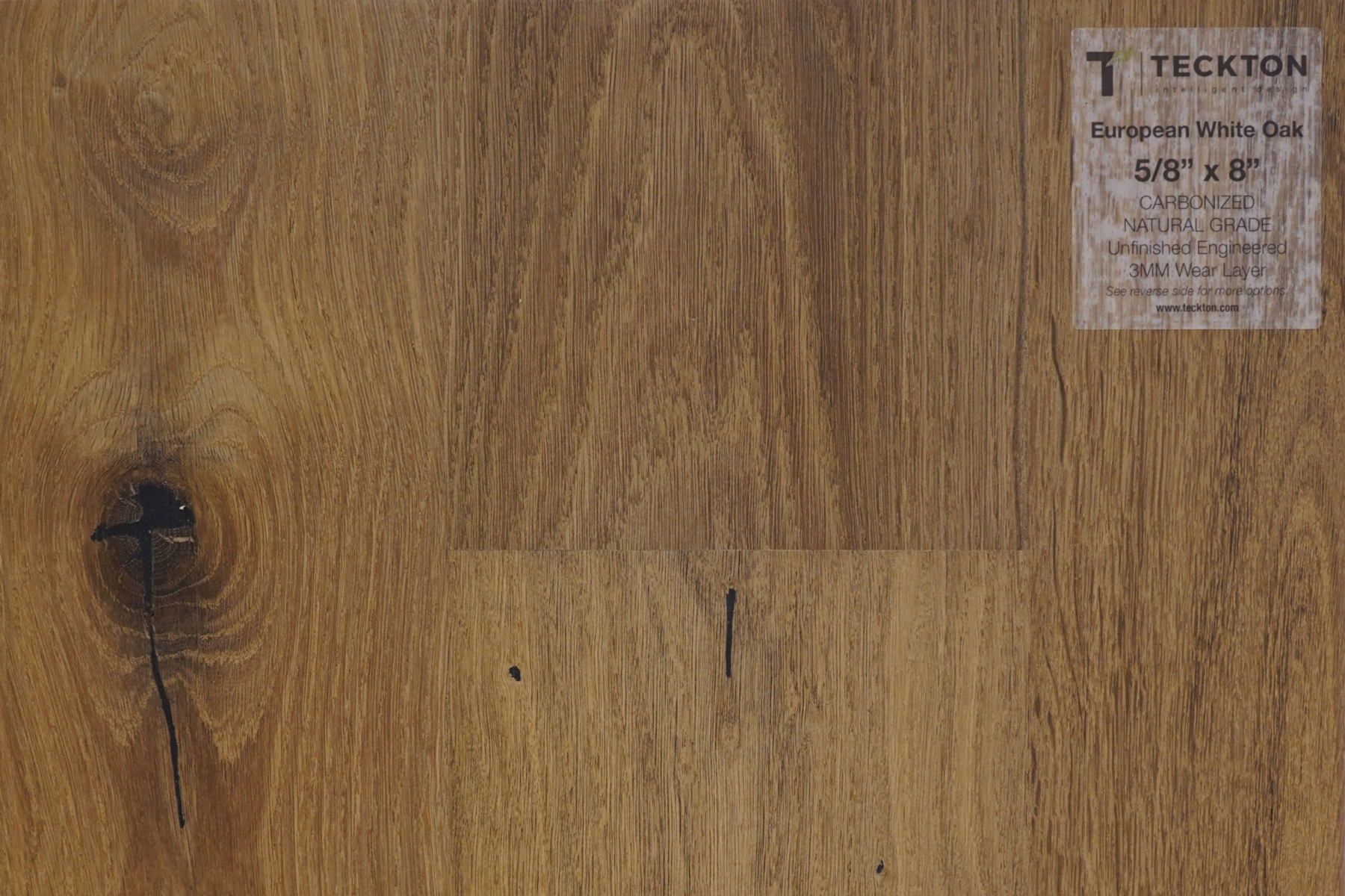 "European White Oak - Carbonized Natural Grade  -  5/8"" x 8"""